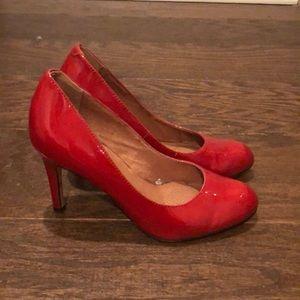 Corso como red patent heels